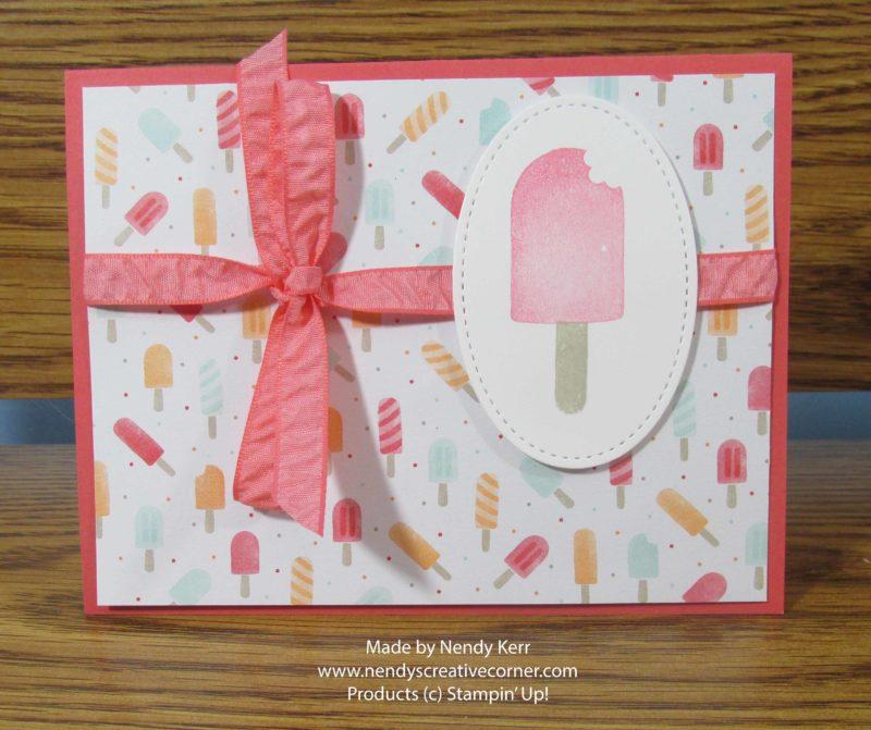 Ice Cream on a stick Card