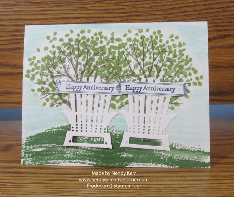 Under the Trees Outdoor Anniversary Card