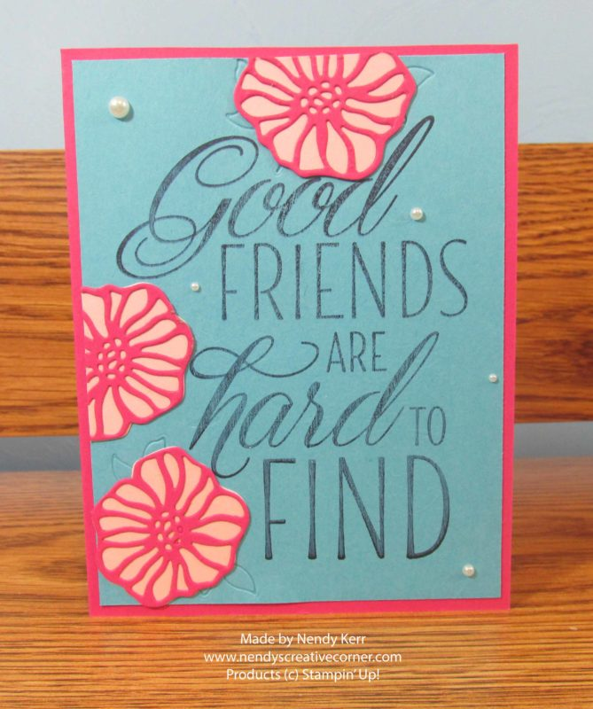Friend & Flowers card