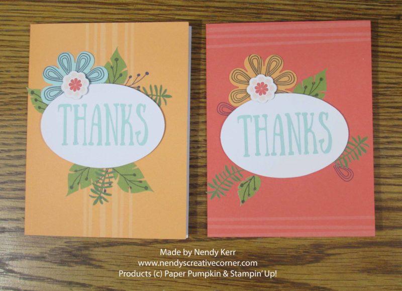 August Paper Pumpkin Cards