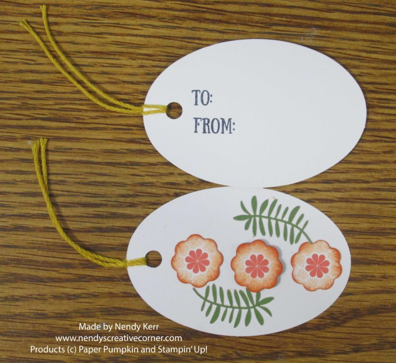 August Paper Pumpkin Oval Tags