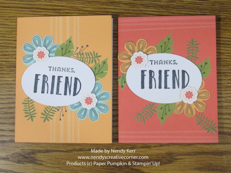 August Paper Pumpkin Stepped Up Cards