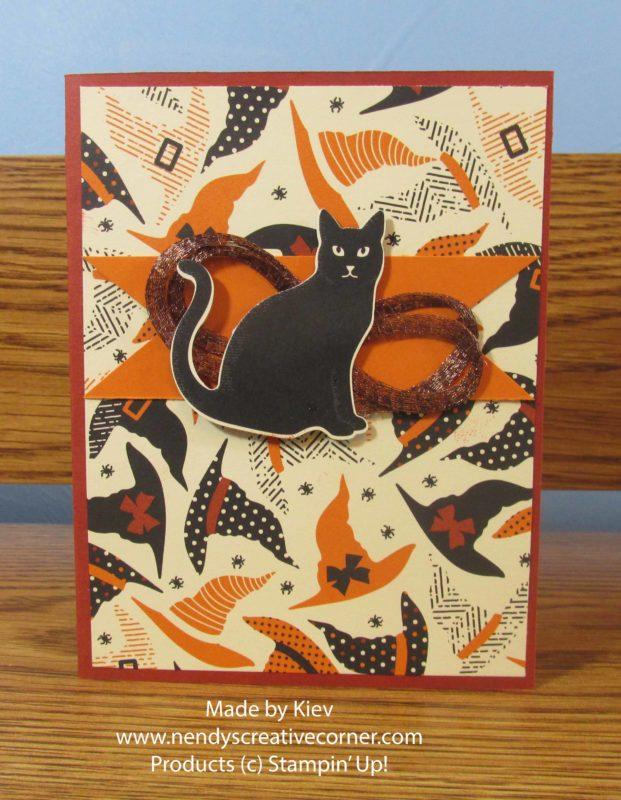 Spooky Cat Banner Halloween Card