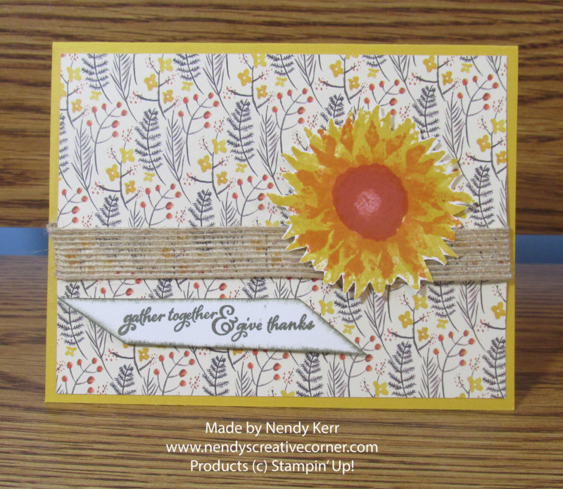 Autumn Sunflower Card