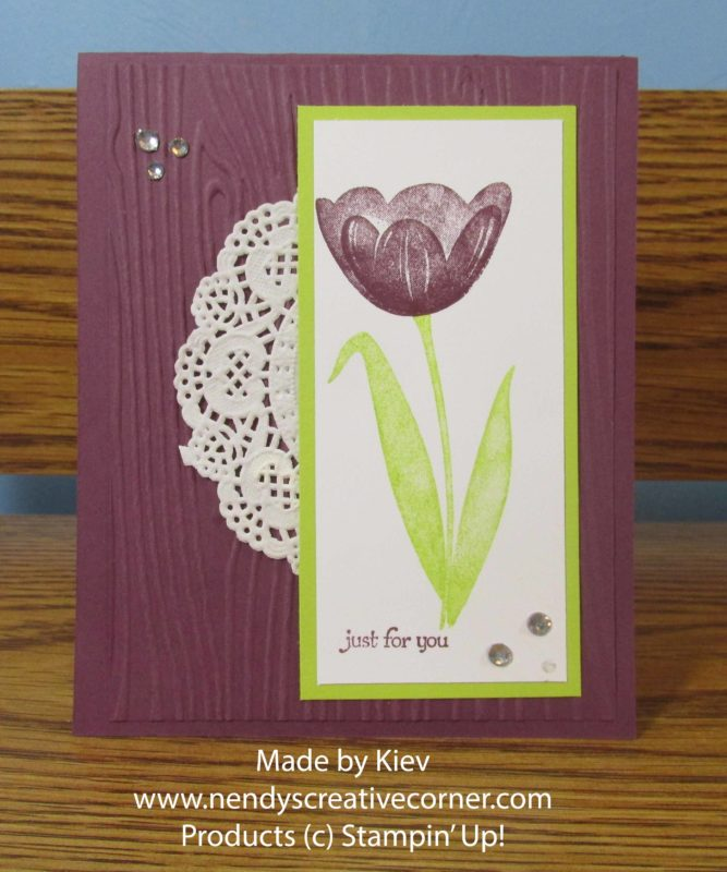 Tranquil Tulip and Doily Card