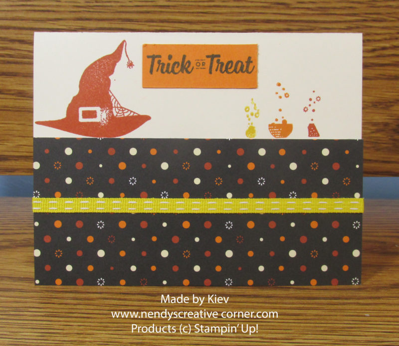 Witch's Hat Trick or Treat Card