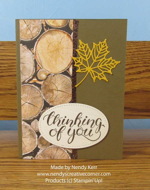 Wood and Leaf card