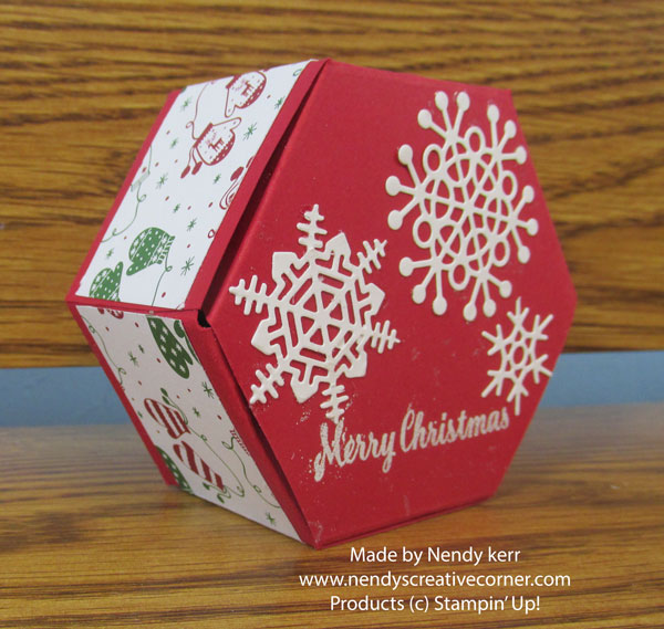 Merry Christmas Hexagon Box