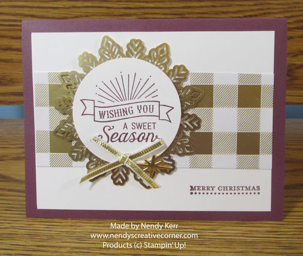 Sweet Season Gold Plaid Christmas Card