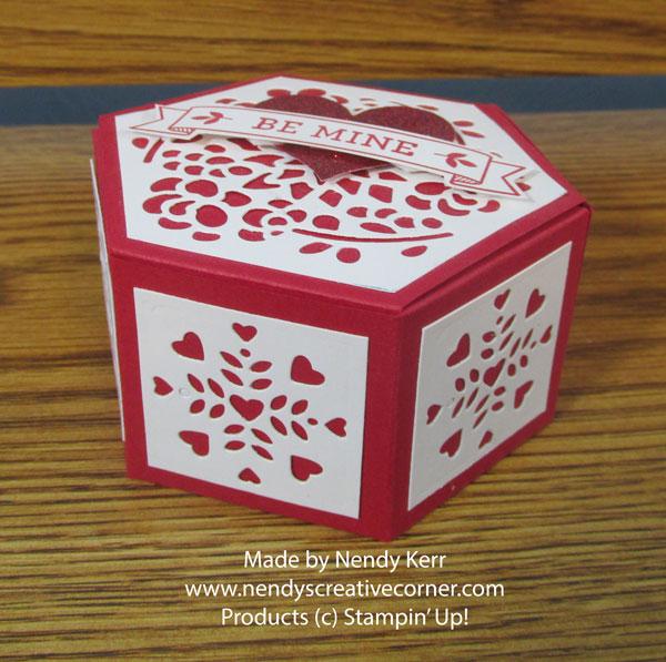 Valentine Hexagon Window Box