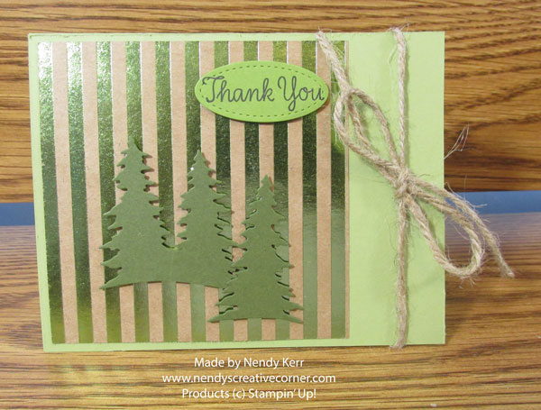 Foil Frenzy Tree Thank You Card