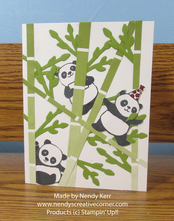 Panda in the Bamboo Card