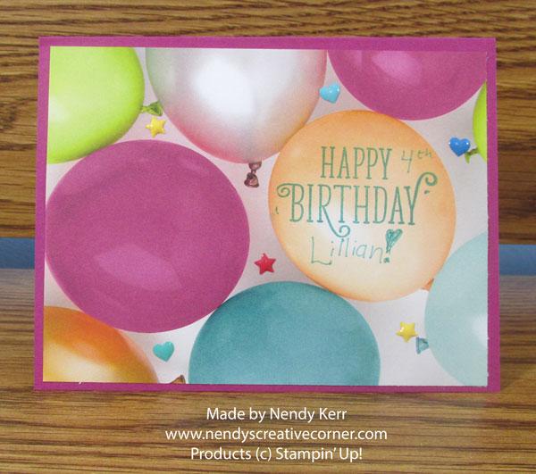 Lillian's Birthday Card