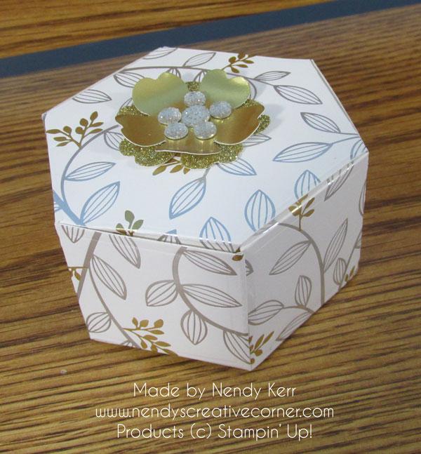 Gold & Silver Hexagon Window Box
