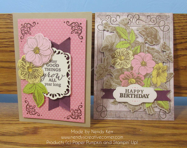 March Paper Pumpkin cards