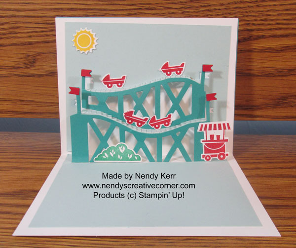 Thrill Ride Roller Coaster Pop-Up card inside
