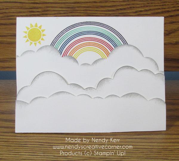 Sunshine, Rainbow & Clouds Card