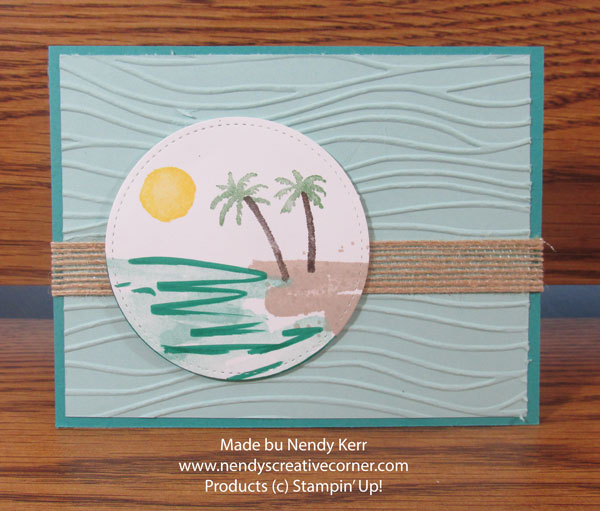 Waterfront Beach Scene Card