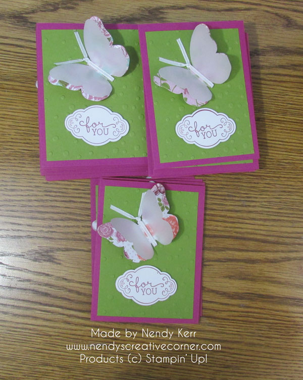 Vellum Butterfly Card Swaps
