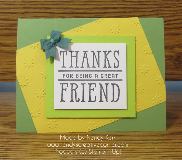 Thanks Friend Card