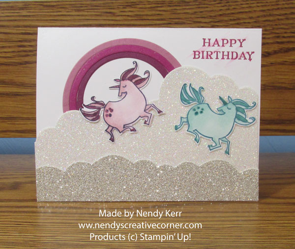 Sparkly Unicorn Birthday Card