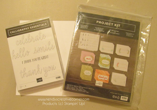 Calligraphy Essentials stamps and Project Ket