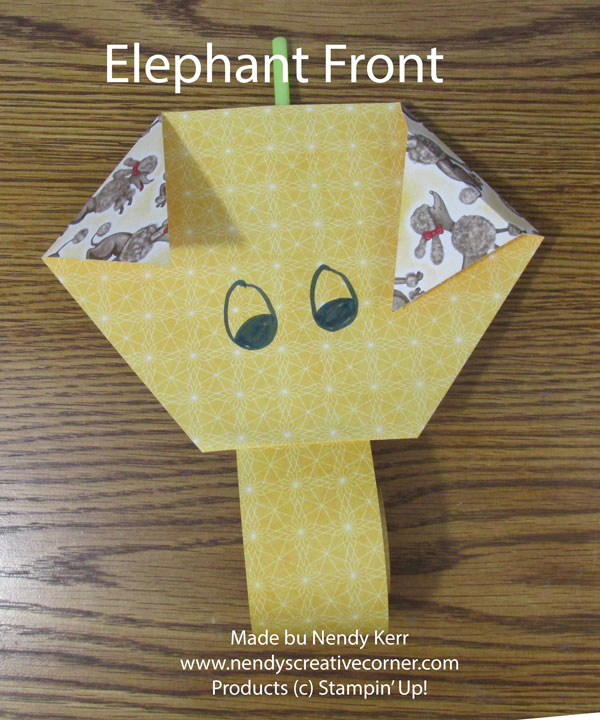 Paper Elephant For The Kids To Make