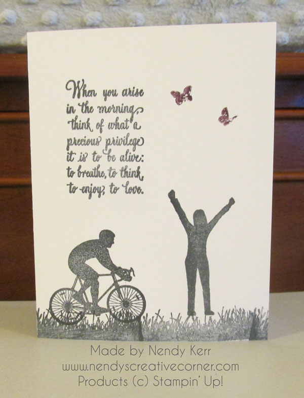 Enjoy Life Silhouette Card