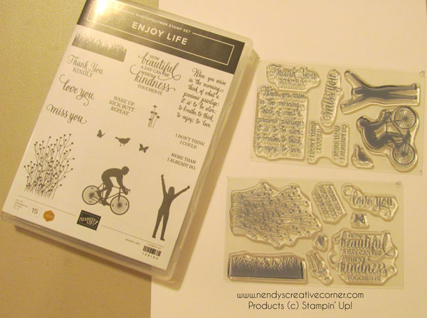 Enjoy Life stamp set