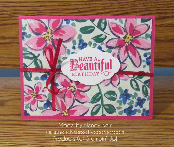 Quick & Easy Beautiful Birthday Card