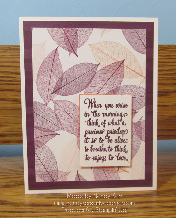 Precious Privilege to Be Alive Nature's Poem Card