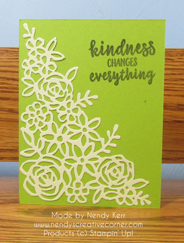 Kindness Springtime Impressions card