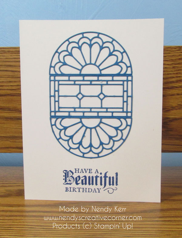 Simple Stained Glass Card