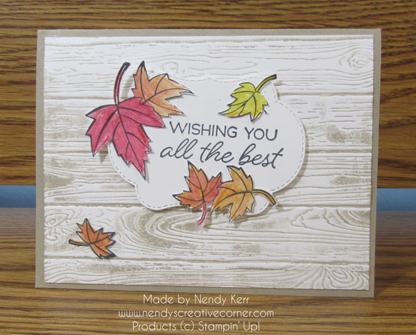 swirling leaves Blended Seasons card