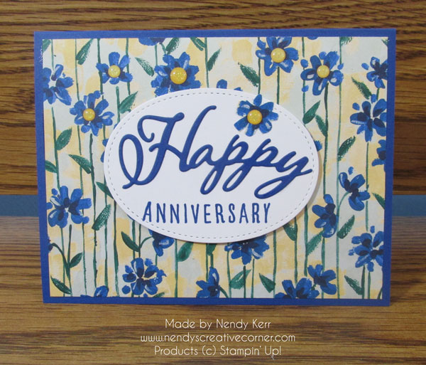 Flower Anniversary Card
