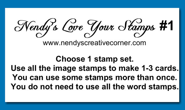 Love Your Stamps Challenge #1