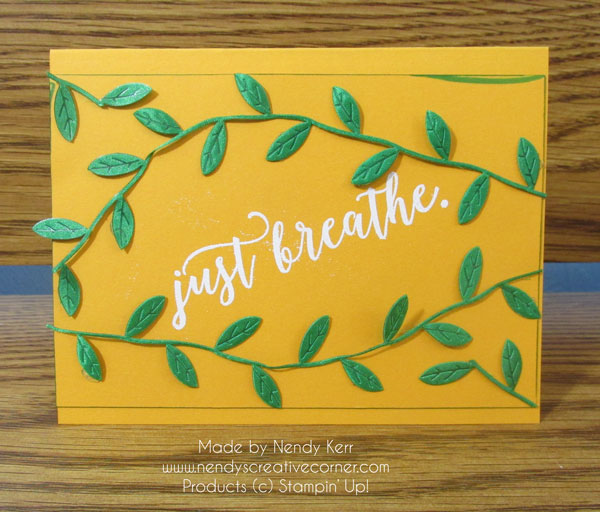 Just Breathe Leaf Ribbon Card