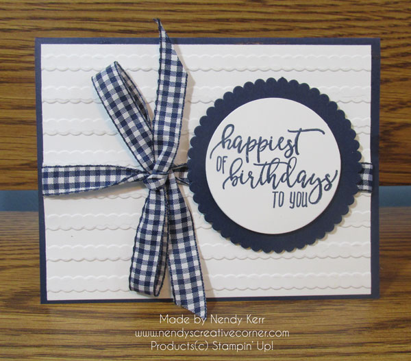 Scallops & Gingham Card