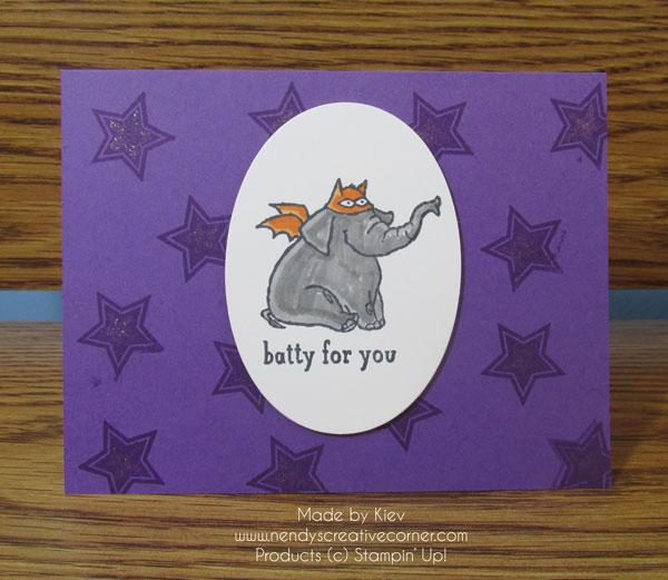 Batty for You Halloween Card
