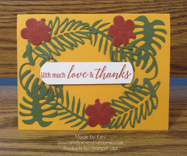 Tropical Chic Fall Card