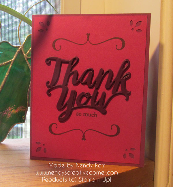 Layered Thank You Card