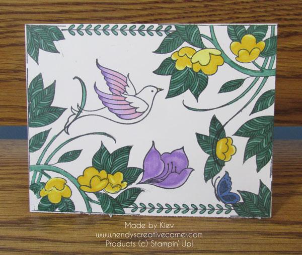 Serene Gardens Fall Card
