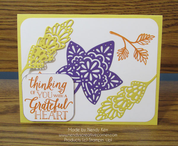 Color Challenge, Thanksgiving Card, Fall Card