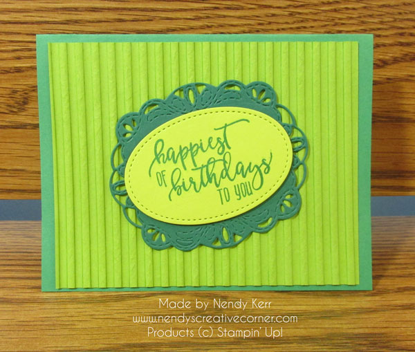 Kathleen's Green Birthday Card