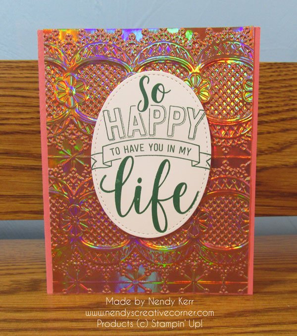 Happy Life Lace Card