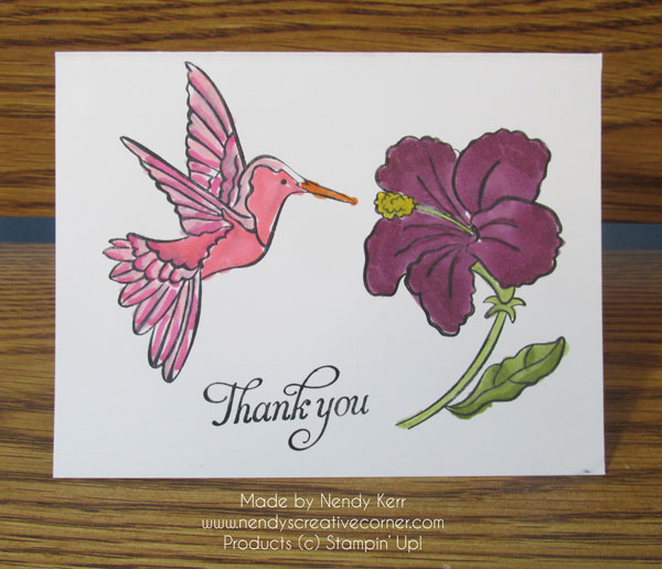 Hummingbird and flower Card
