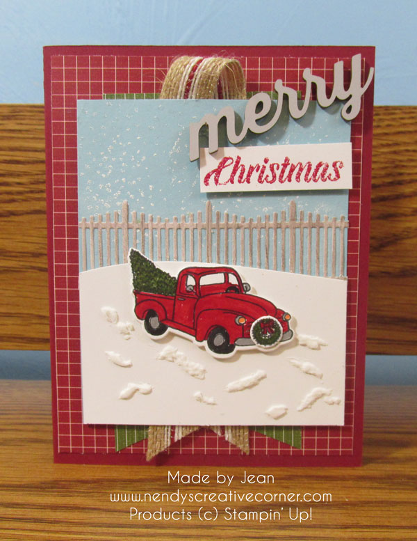 Jean's Festive Farmhouse Card