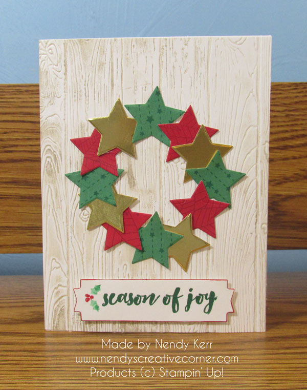 Star Wreath Card
