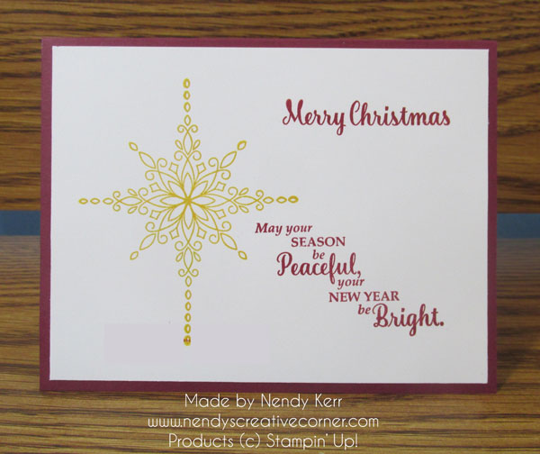 Star of Light Christmas Card