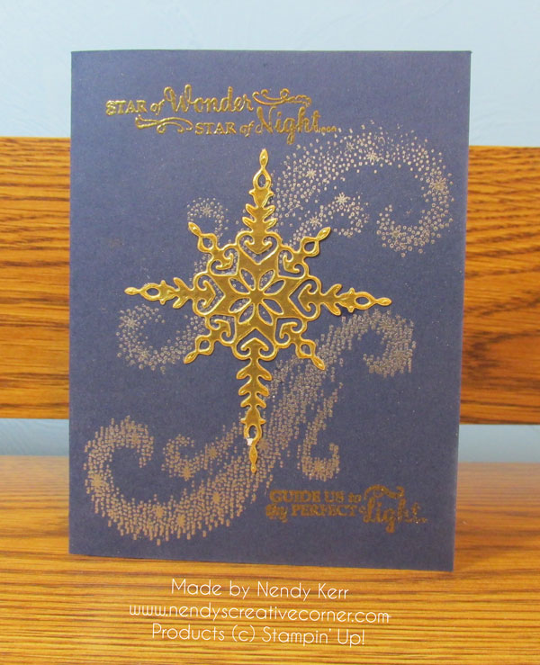 Star of Light Embossed Christmas Card